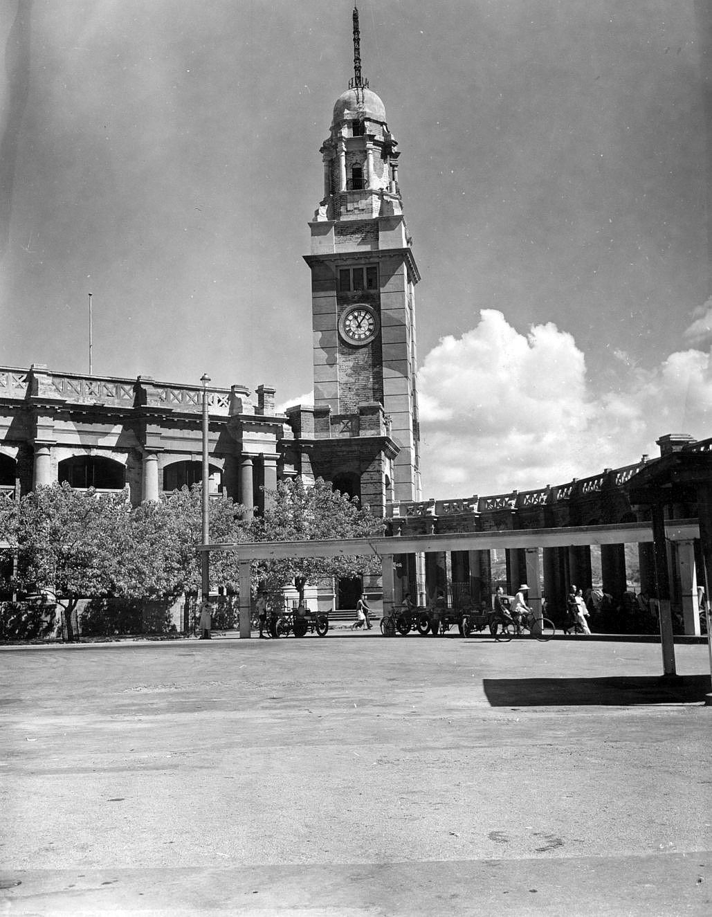 Royal Canadian Navy : Clock tower, Kowloon, 1945