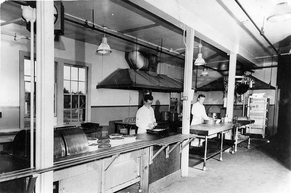 Royal Canadian Navy : Galley on unidentified land base.