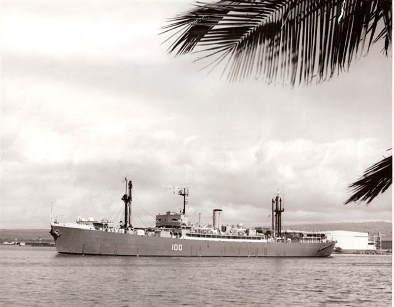 Royal Canadian Navy : HMCS Cape Breton leaves Pearl Harbor.
