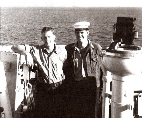 Royal Canadian Navy : H.M.C.S. Ste Therese, Robert Brown, Ernie Richards.