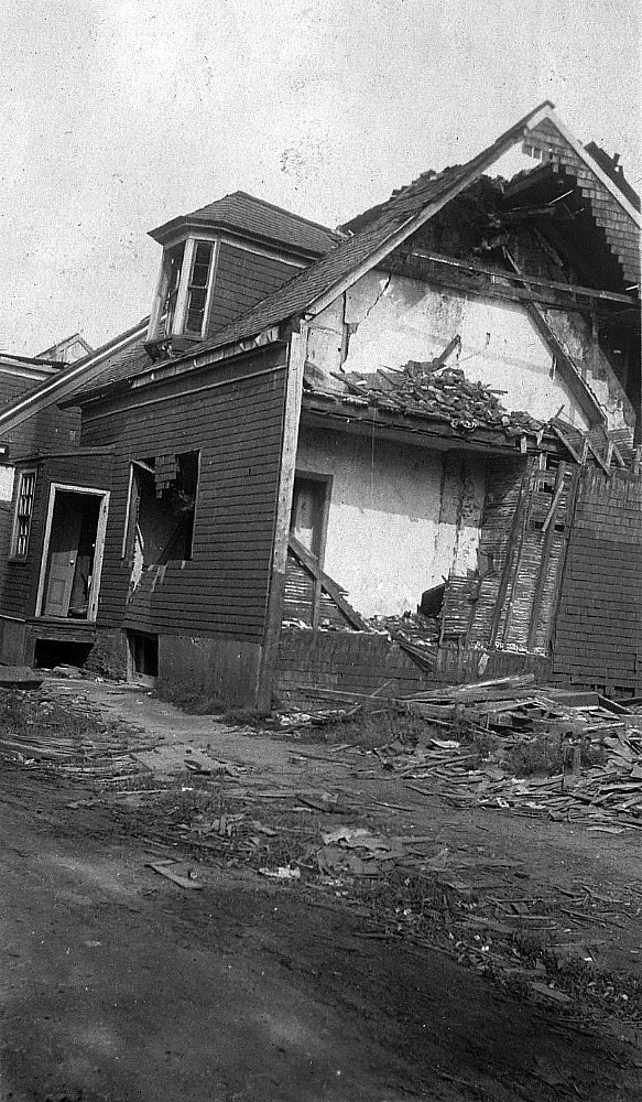 Damage from Halifax Explosion