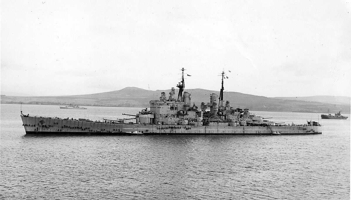Royal Canadian Navy : HMS Vanguard, 1953