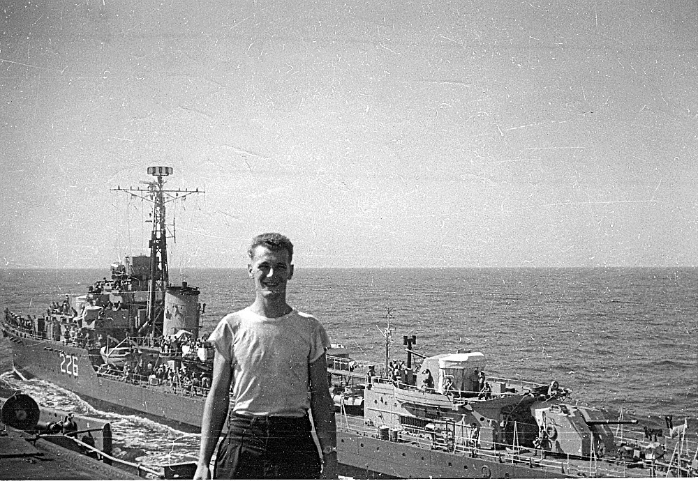Royal Canadian Navy : Kenneth McCuish on board ship, 1952