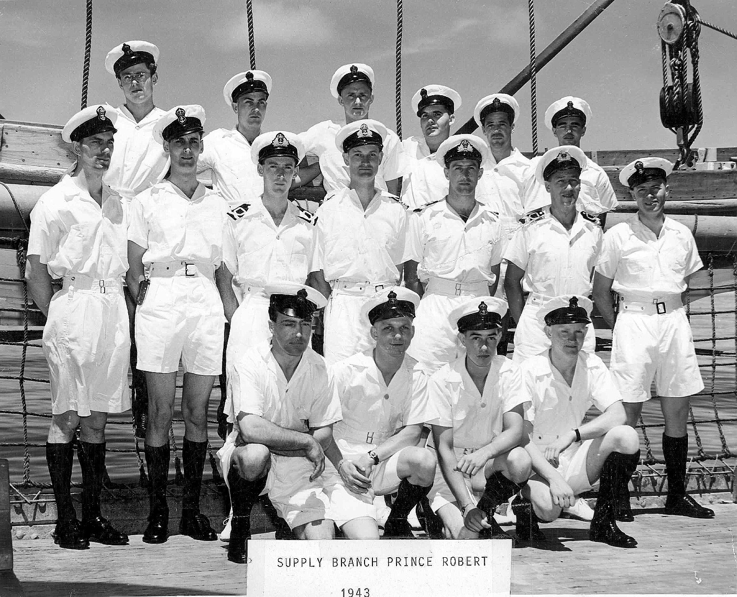 Royal Canadian Navy : HMCS Prince Robert, Supply Branch, Officers and Petty Officers
