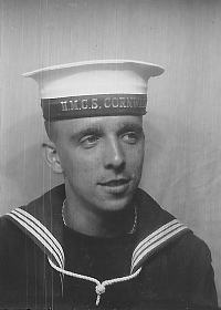 Portrait of Roger Rayner at HMCS Cornwalls