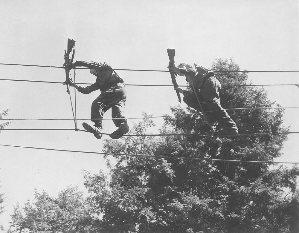 HMCS Cornwallis, Assault Course, June 1955