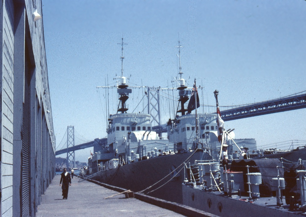 RCN Frigates tied up in San Francisco, 1961.