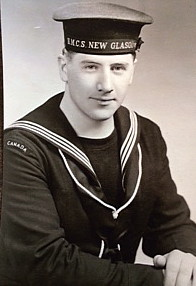 a found photo of Doug De'Ath, a previously unknown sailor of HMCS New Glasgow